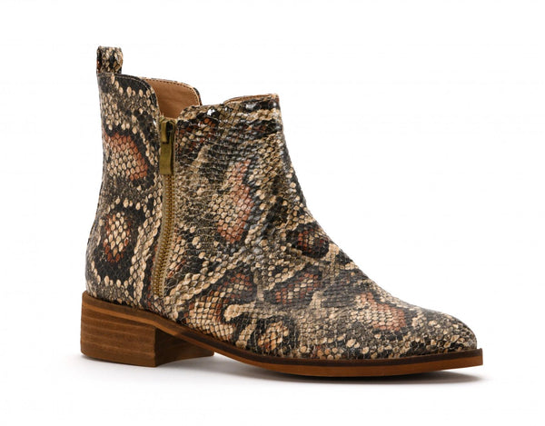 Neal Brown Snake Bootie