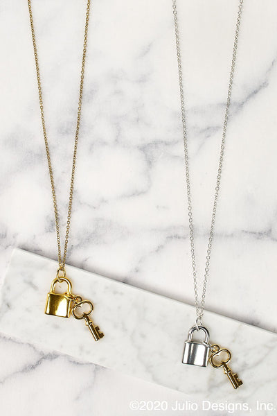 Payday Lock & Key Necklace