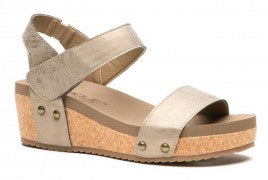 Brushed Gold Slidell Sandal