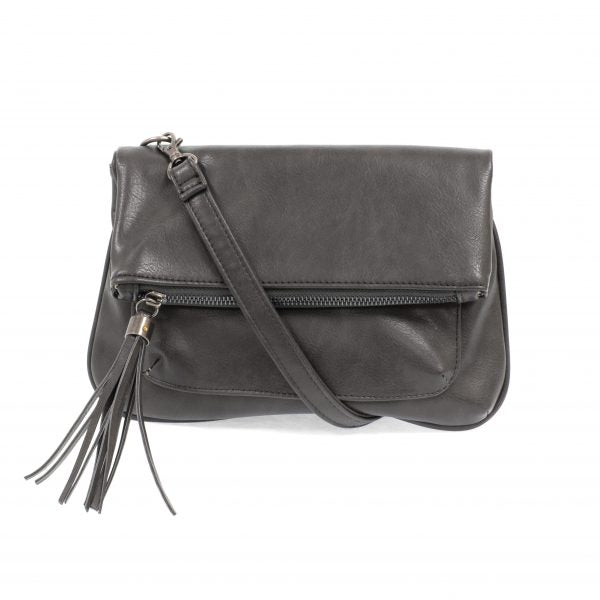 Charcoal Crossbody With Tassel