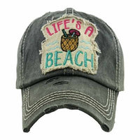 Charcoal Life's A Beach Ball Cap