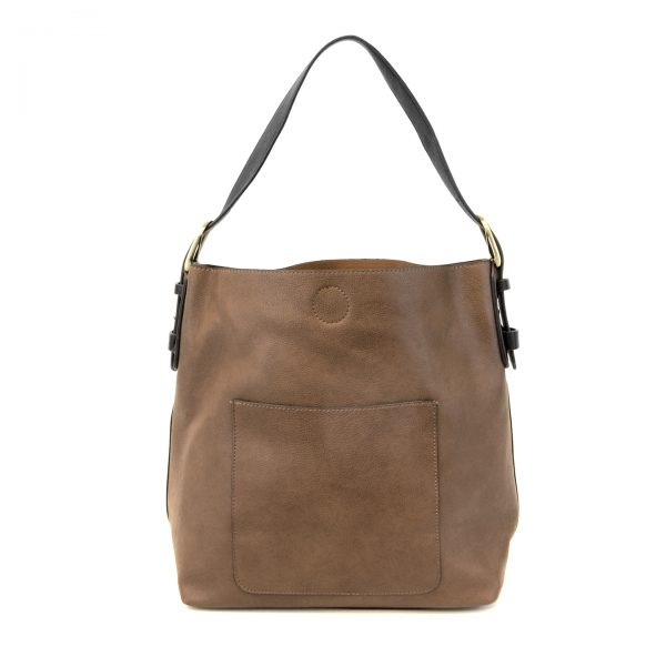 Chestnut Hobo With Black Handle