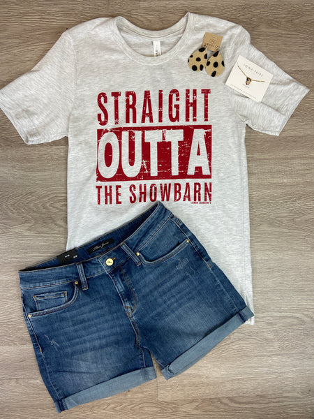 "Grey ""Straight Outta The Showbarn"" Tee"