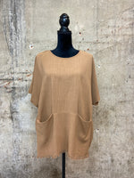 Latte Washed Linen Top