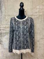 Taupe/Blk Snakeskin Sweater