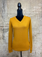 Golden Classic V-neck Knit Sweater
