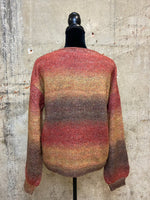 Rust Ombre V-neck Sweater