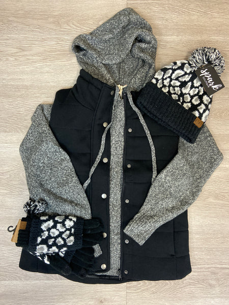 Black Sweatshirt Vest
