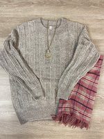 Grey Chenille Sweater