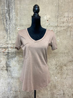 Taupe Grey Pocket Tee