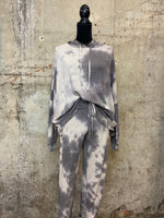 Grey Tie Dye Lounge Wear Set