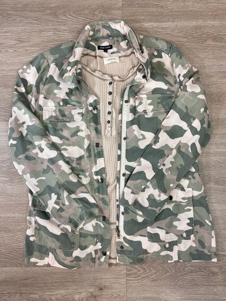 Watercress Camo Dear John Jenny Jacket