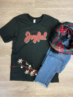 Black Joyful  Graphic Tee