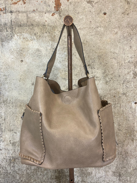 Side Pocket Whipstitch Hobo