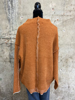 Pumpkin Sweater With Cream Contrast