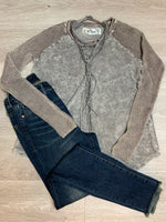 Grey Contrast Sweater