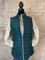 Quilted Vest With Snap Detail