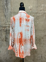 Orange Tie Dye Button Down