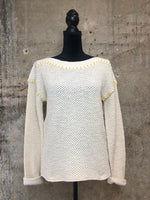 Cream/Mustard Stitch Detail Sweater