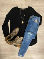 Black Pullover Sweater