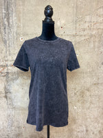 Charcoal Mineral Washed Tee