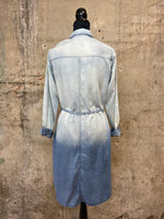 Denim Ombre Bleach Washed Dress