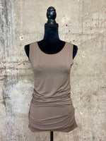 Mocha Side Ruched Tank