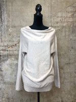 Oatmeal Cashmere Cowl-neck