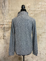 Charcoal Quilted Button Pullover