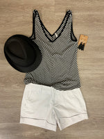 Black/White Natia Stripe Tank