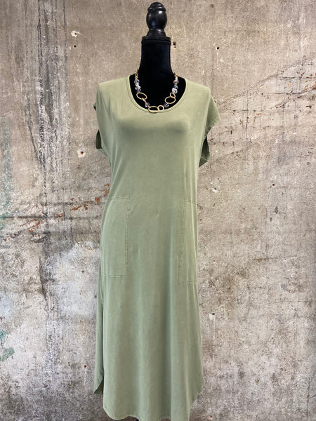 Light Sage Leira Midi Dress