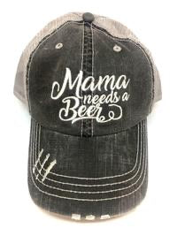 """Mama Needs a Beer"" Trucker Hat"