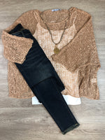 Sand Loose Knit Top