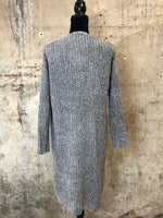Grey Chenille Cardigan