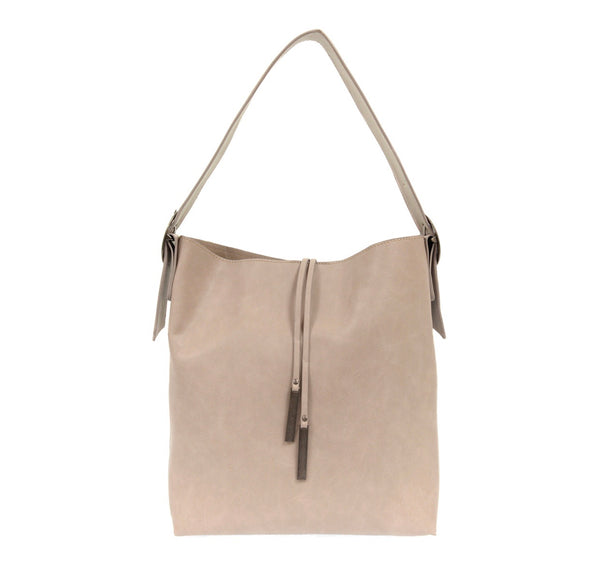 Grey Jillian Hobo With Tassel