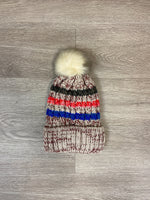 Striped Knit Pom