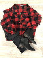 Black And Red Plaid Pullover