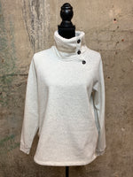 Oatmeal Fleece Pullover With Trim