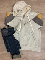 Grey/Gold/Charcoal Pullover Sweatshirt