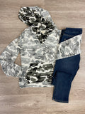 Grey Inside Out Camo Hoodie