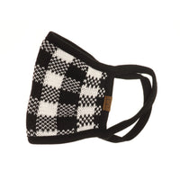 C.C Patterned Knit Face Mask