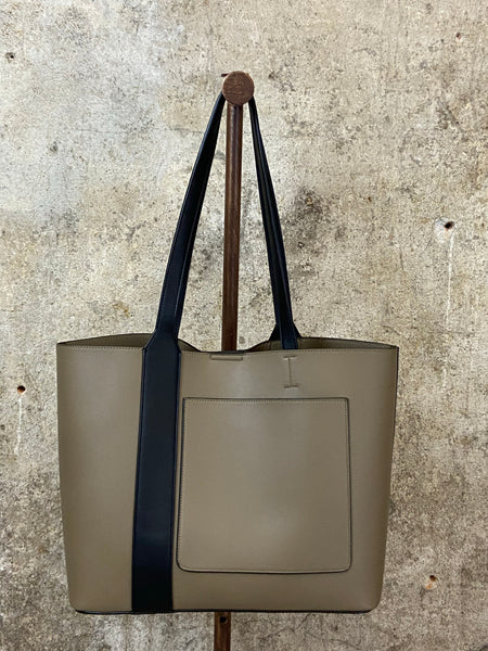 Mushroom Tote With Black Detail