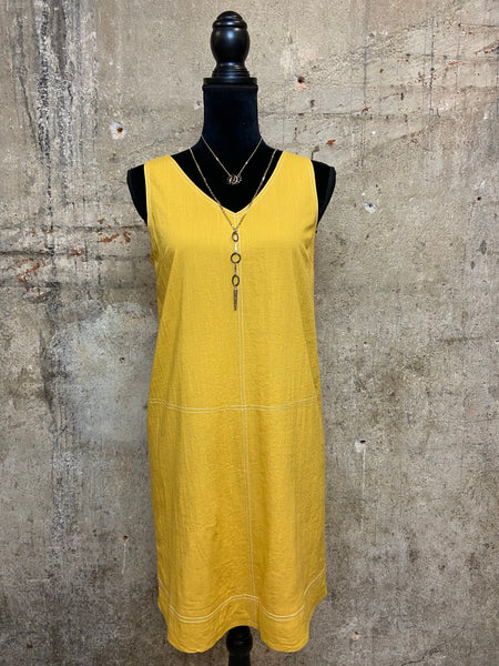 Mustard Sleeveless Dress