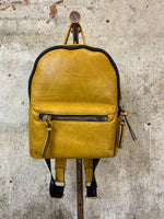 Mustard Large Zipper Backback