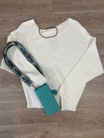 Ivory Diagonal Neck Sweater