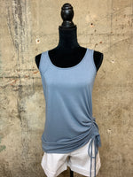 Sleeveless Side Ruched Tank