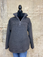 Sherpa Half Zip With Side Pockets