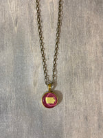 Cheer State Silhouette Necklace