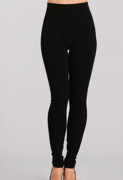 Tummy Tuck Solid High Waist Leggings