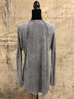 Grey Dyed Cut Shirt